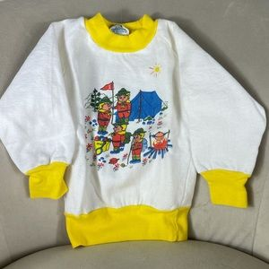 Unique Vintage Outdoor Camping Toddler Sweatshirt
